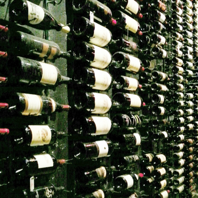 Walls of wine!